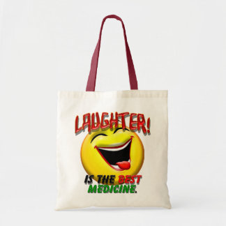 Laughter is the Best Medicine Canvas Bags