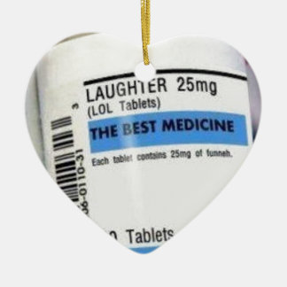 Laughter is the Best Medicine Ceramic Heart Decoration