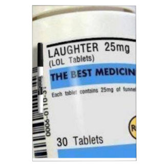 Laughter is the Best Medicine Dry-Erase Whiteboard