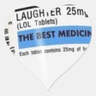 Laughter is the Best Medicine Heart Sticker