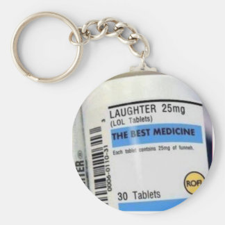 Laughter is the Best Medicine Key Chain