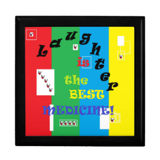 Laughter is the Best Medicine Large Square Gift Box