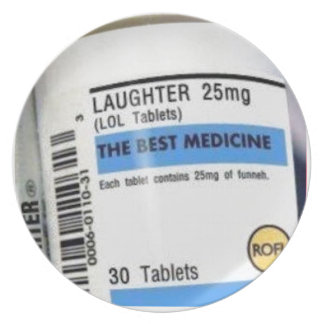 Laughter is the Best Medicine Party Plate