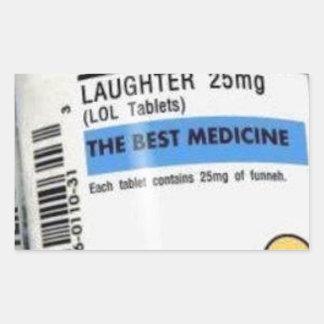 Laughter is the Best Medicine Rectangular Sticker