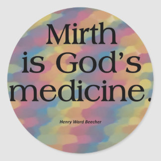 Laughter is the Best Medicine Round Sticker