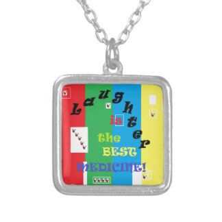 Laughter is the Best Medicine Silver Plated Necklace