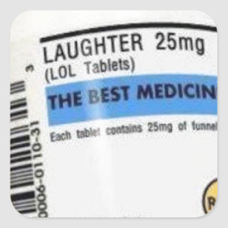Laughter is the Best Medicine Square Sticker