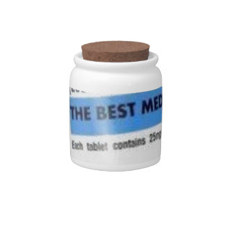 Laughter is the Best Medicine Candy Dish
