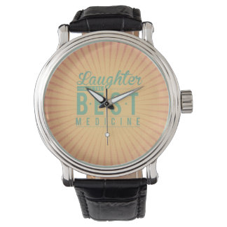 Laughter is the best medicine vintage background watches