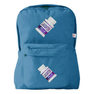 Laughter pills. backpack
