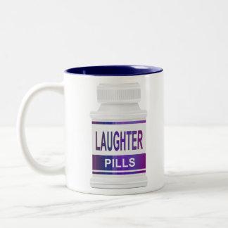 Laughter pills. Two-Tone coffee mug
