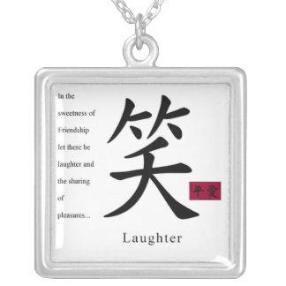 Laughter Square Pendant Necklace