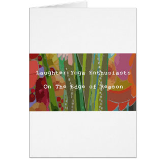 Laughter Yoga Enthusiasts Greeting Card