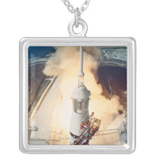 Launch of a Rocket Silver Plated Necklace