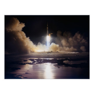 Launch of Apollo 17 Poster