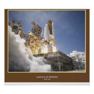 Launch of Atlantis STS-132 Poster