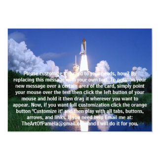 Launch of Space Shuttle 13 Cm X 18 Cm Invitation Card