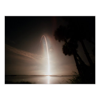 Launch of Space Shuttle Atlantis (STS-104) Poster