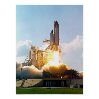Launch of Space Shuttle Atlantis (STS-112) Poster