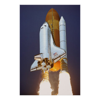 Launch of Space Shuttle Atlantis (STS-115) Poster
