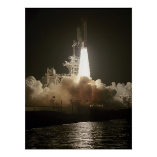 Launch of Space Shuttle Atlantis (STS-38) Poster