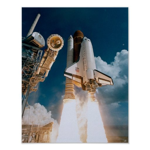 Launch of Space Shuttle Atlantis (STS-51J) Poster