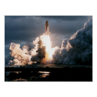 Launch of Space Shuttle Atlantis (STS-74) Posters