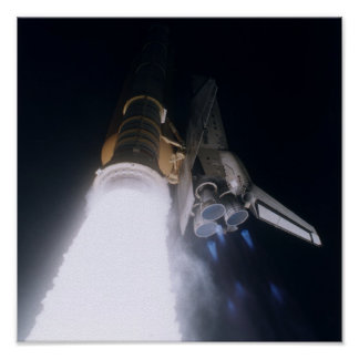 Launch of Space Shuttle Atlantis (STS-79) Poster