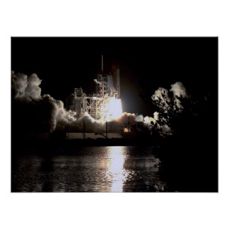 Launch of Space Shuttle Challenger STS-41G Print