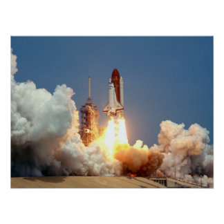 Launch of Space Shuttle Challenger (STS-51B) Poster