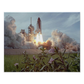 Launch of Space Shuttle Challenger (STS-51F) Poster