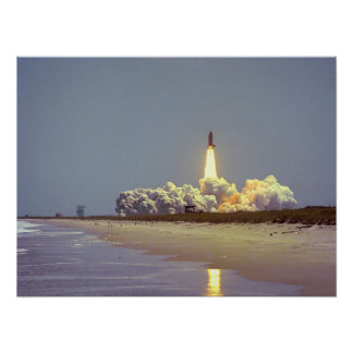 Launch of Space Shuttle Challenger STS-6 Print