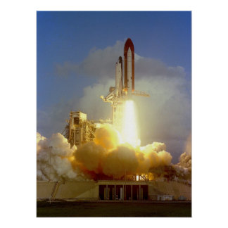 Launch of Space Shuttle Challenger (STS-7) Poster