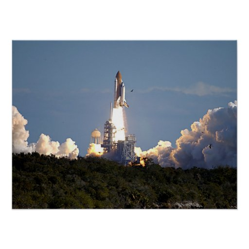 Launch of Space Shuttle Columbia (STS-107) Poster