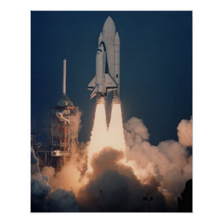 Launch of Space Shuttle Columbia (STS-2) Poster