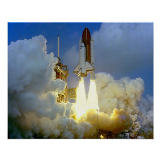 Launch of Space Shuttle Columbia (STS-3) Poster