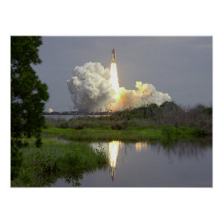 Launch of Space Shuttle Columbia (STS-40) Poster