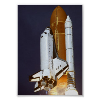 Launch of Space Shuttle Columbia (STS-62) Poster