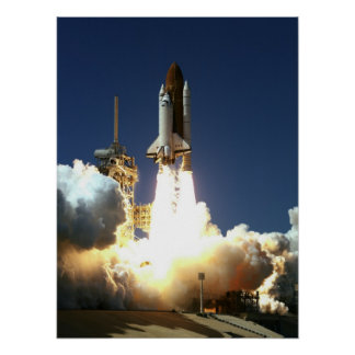 Launch of Space Shuttle Columbia (STS-83) Poster