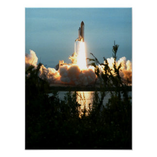 Launch of Space Shuttle Columbia STS-87 Poster