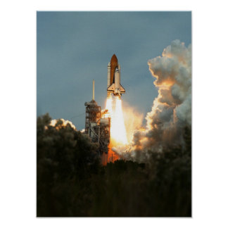 Launch of Space Shuttle Columbia (STS-87) Poster