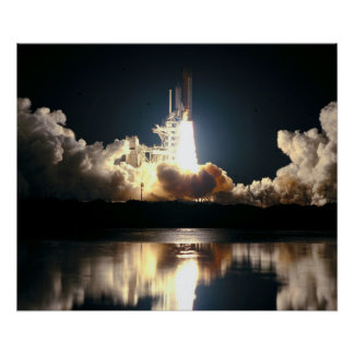 Launch of Space Shuttle Columbia (STS-93) Poster