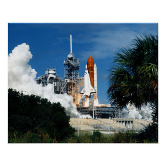 Launch of Space Shuttle Discovery (STS-26) Poster