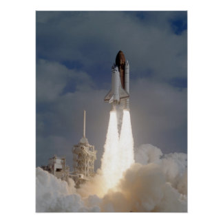 Launch of Space Shuttle Discovery (STS-31) Print