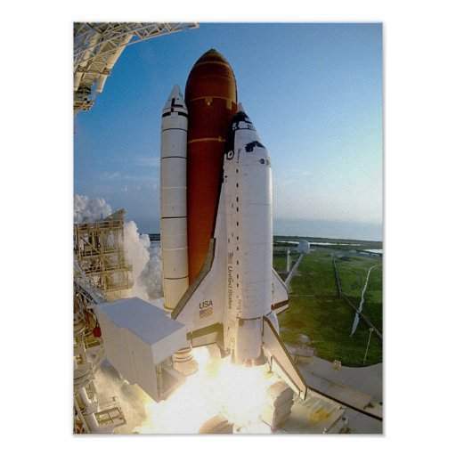 Launch of Space Shuttle Discovery (STS-51) Posters