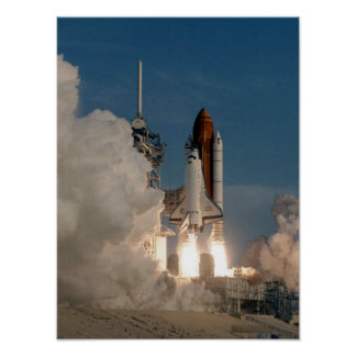 Launch of Space Shuttle Discovery (STS-51) Poster