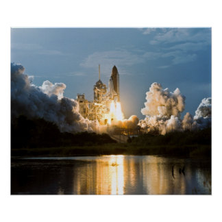 Launch of Space Shuttle Discovery (STS-64) Poster