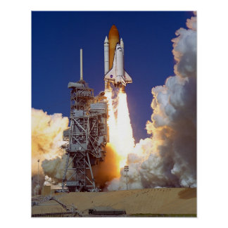 Launch of Space Shuttle Discovery (STS-95) Print
