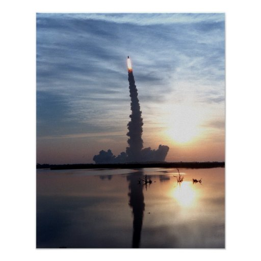 Launch of Space Shuttle Discovery (STS-96) Poster