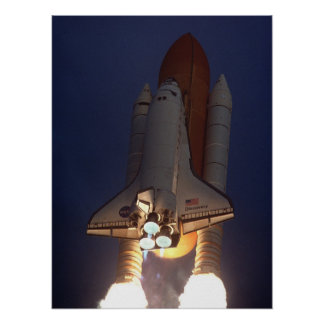 Launch of Space Shuttle Discovery STS-96 Poster